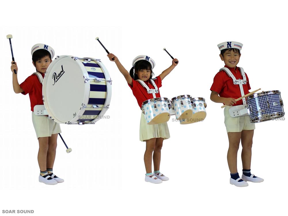 【受注製作】 子供用 Pearl パール Artisan マーチングドラム3点セット 小太鼓 大太鼓 キッズ用 タムの3種類!キャリングホルダー付属 MJ Series Artisan II マーチングドラムセット スネアドラム バスドラム タム 幼児用 園児用 子供用 キッズ用, MAKEGINA メイクジーナ:1a4e497a --- sunward.msk.ru