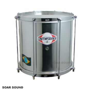 コンテンポラネア ヘピニキ 太鼓 ドラム 直径12インチ×28cm 8テンション CO-RPAL1208L サンバなどに ブラジル楽器 打楽器 ヘピーキ