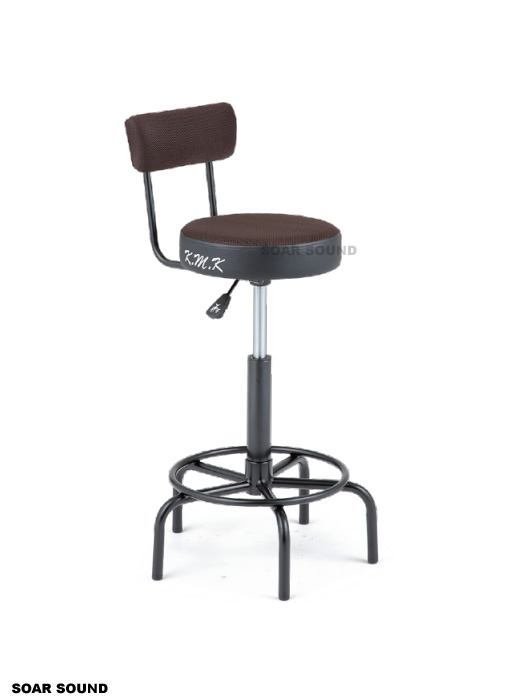 K.M.K 背もたれ付きミュージシャンズ チェア スローン 椅子 ティンパニ奏者 特売 打楽器 限定特価 KMK KKG1+KK-G1BR パーカッションなどに