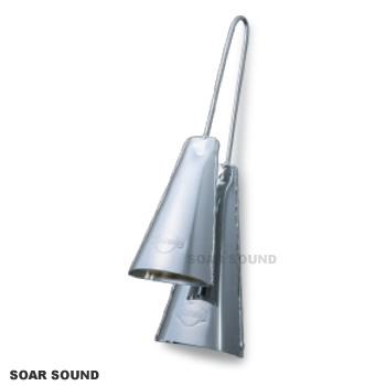 アゴゴ 2連 クローム仕上げ CO-AGD サンバなどに ブラジル楽器