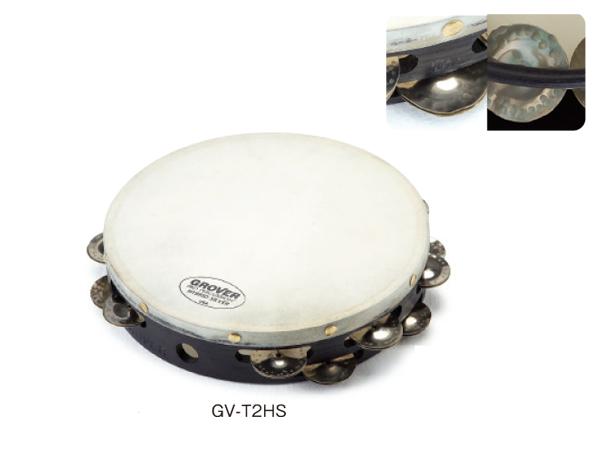 タンバリン グローバー GROVER /ハイブリッド・タンバリン HS:ハイブリッド・シルバー GV-T2HS
