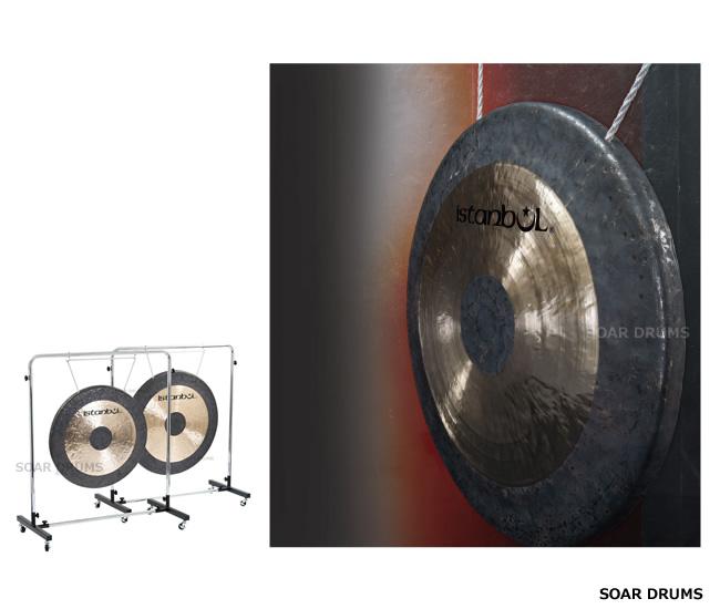 ISTANBUL 銅鑼(ドラ・タムタム)38インチ マレット、ソフトケース付き コンサートタムタム