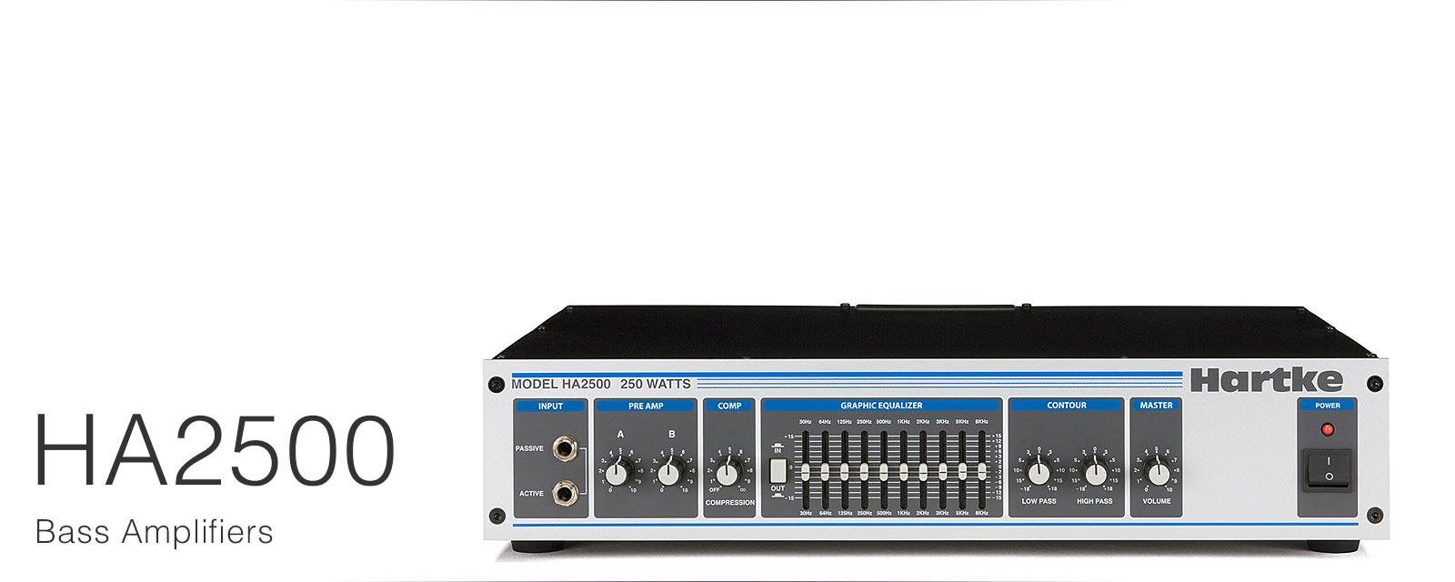 【送料無料】Hartke ハートキー ベースアンプ ヘッドアンプ HA2500 Bass Head
