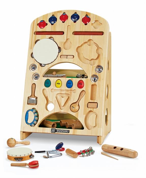 SUZUKI 幼稚園や保育園、保育スペースなどに! 打楽器セット なかよしリズムスタンドタイプ 知育楽器 NYR-02v2 教育楽器 楽器 おもちゃ 玩具 キッズ 子供 こども 幼児 用 卒園記念や寄贈にも