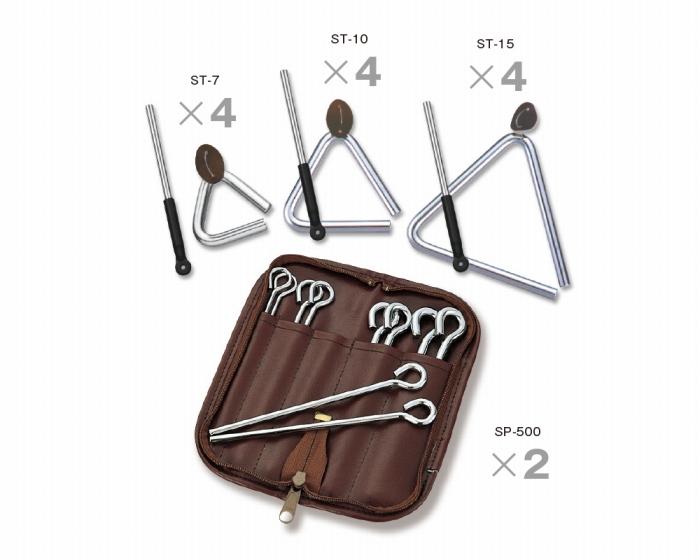 SUZUKI 幼稚園や保育園、保育スペースなどに! トライアングルセット トライアングル&ビーター(棒) 小物 打楽器セット 教育楽器 ST-12Bset 楽器 キッズ 子供 こども 幼児 用