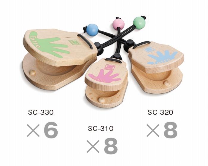 SUZUKI 幼稚園や保育園、保育スペースなどに! カスタネットセット 小物 打楽器セット カスタネット 教育楽器 SC-22set 楽器 おもちゃ 玩具 キッズ 子供 こども 幼児 用