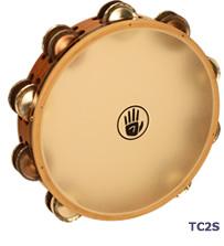 タンブリン Black Swamp Percussion サウンドアート・シンセティックヘッドシリーズ 10インチ ダブル・ロウ  TC2S  クローム/ジャーマンシルバー  ブラックスワンプパーカッション タンバリン