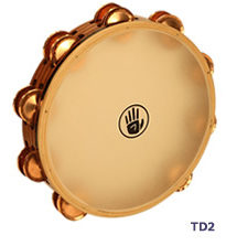 タンブリン Black Swamp Percussion サウンドアート・カーフヘッドシリーズ 10インチ ダブル・ロウ TD2 フォスファーブロンズ ブラックスワンプパーカッション タンバリン