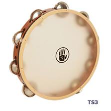 タンブリン Black Swamp Percussion サウンドアート・カーフヘッドシリーズ 10インチ シングル・ロウ TS3 ジャーマンシルバー / ブラックスワンプパーカッション タンバリン