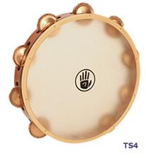 タンブリン Black Swamp Percussion サウンドアート・カーフヘッドシリーズ 10インチ シングル・ロウ TS4 ベリリウムコパー / ブラックスワンプパーカッション タンバリン