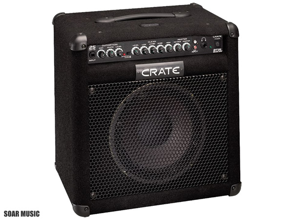 CRATE 25W ベースアンプ BT-25J ベース用 コンボアンプ Bass Combo Amplifiers オクターブコントロール機能搭載 チューナー内蔵