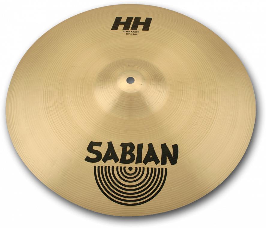 アンサンブルに溶け込みやすい音色のパワフルなクラッシュ SABIAN HH DARK CRASH 100%品質保証 待望 HH-18DC 18″ 46cm クラッシュシンバル セイビアン : Thin Medium