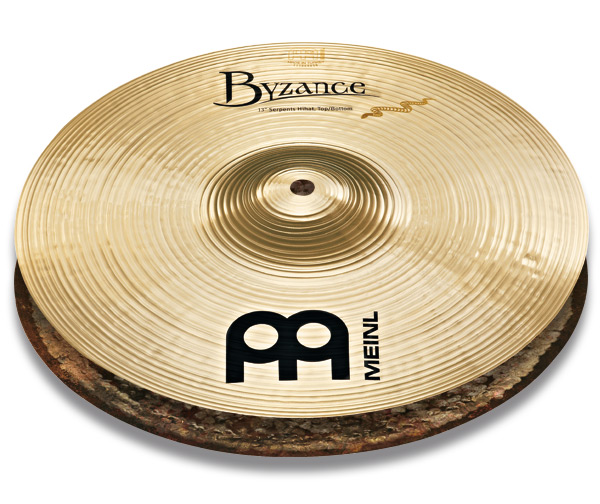 ハイハットシンバル MEINL / マイネル Byzance Brilliant Series Derek Roddy's signature cymbal:Serpents Hihats 13