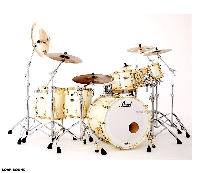 【受注製作】 Pearl パール Masters Maple Reserve MRS ドラムセット シェル6点セット シェルキット 6プライ メイプル ウッドシェル