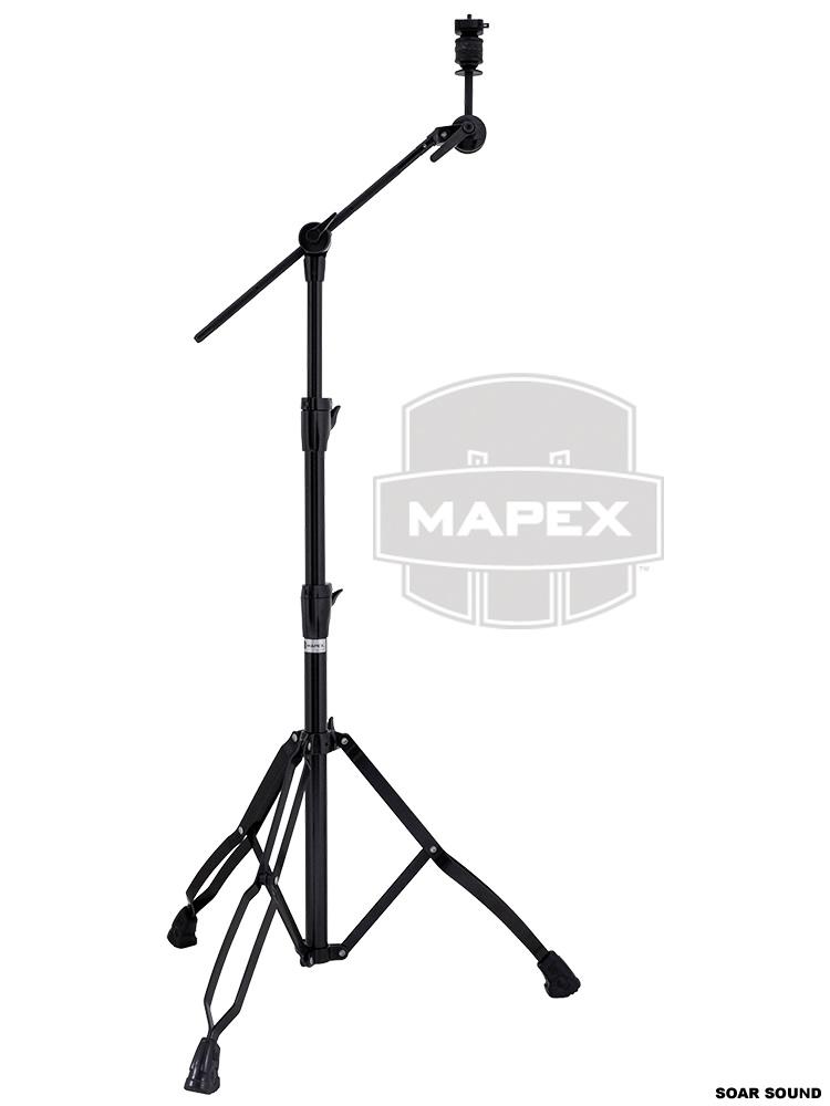 MAPEX メイペックス シンバルスタンド ブラック カラー SALENEW大人気 ブームスタンド ストレートスタンド 黒色 バースデー 記念日 ギフト 贈物 お勧め 通販 シンバル B800 EB 両用対応 スタンド