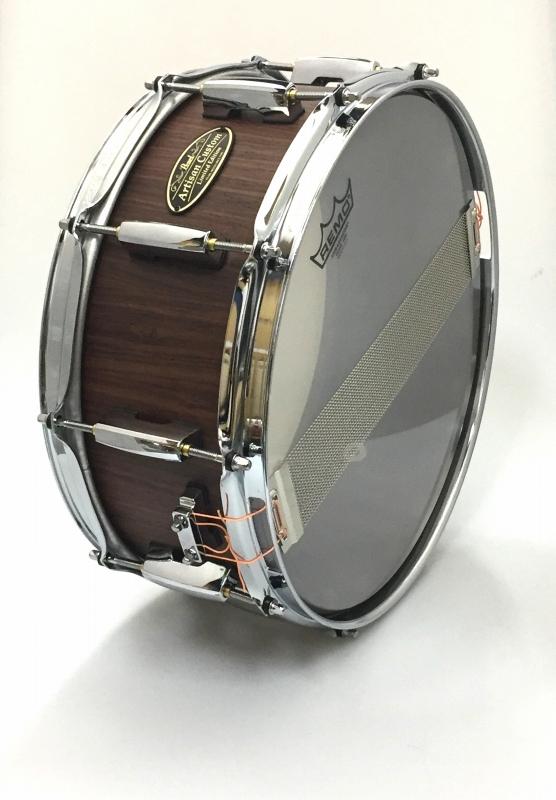 【限定製作】 Pearl パール Artisan Custom x DrumArt ドラムアート社 スネアドラム 14″ x5.5″ ローズウッド DARW1455S/C ハードケース付属