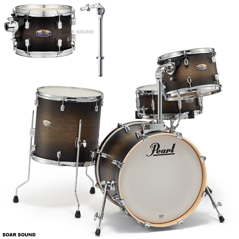 Pearl パール ドラムセット DECADE MAPLE BOP CLUB KIT #262 サテンブラックバースト DMP984P/C ドラム 小口径 省スペース