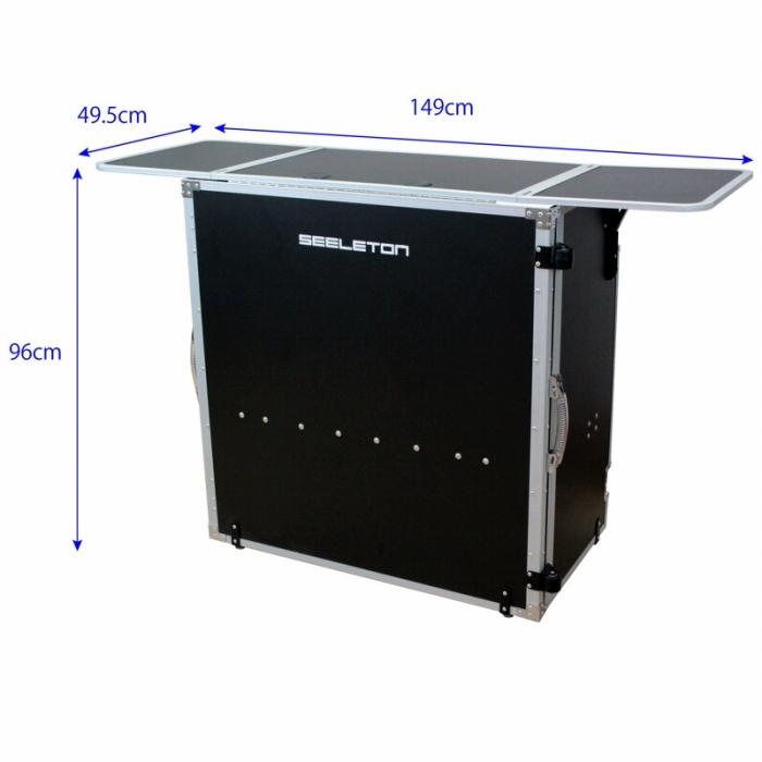 SEELETON セレトン DJテーブル SDJT 折りたたみ式 テーブル 堅牢 丈夫 組み立て式 持ち運び 簡易 机 展示台 としても