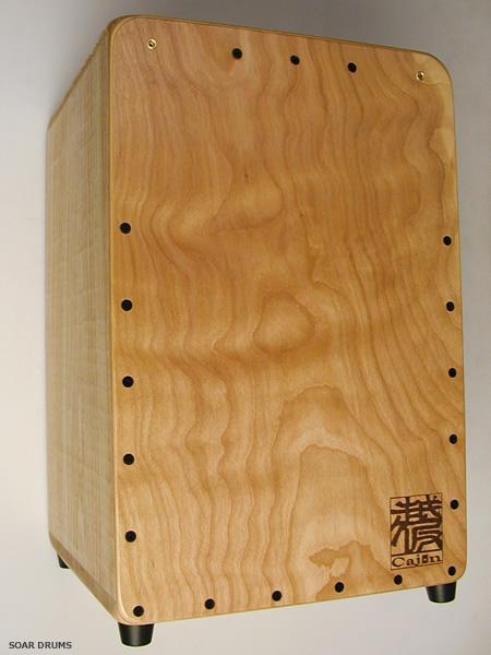 【亀甲彫+3連スナッピー】 越仮カホン スタンダード・ K's factory 檜使用・日本製 / ST-23-in(T)sh(C)-(C)-(C) 亀甲彫