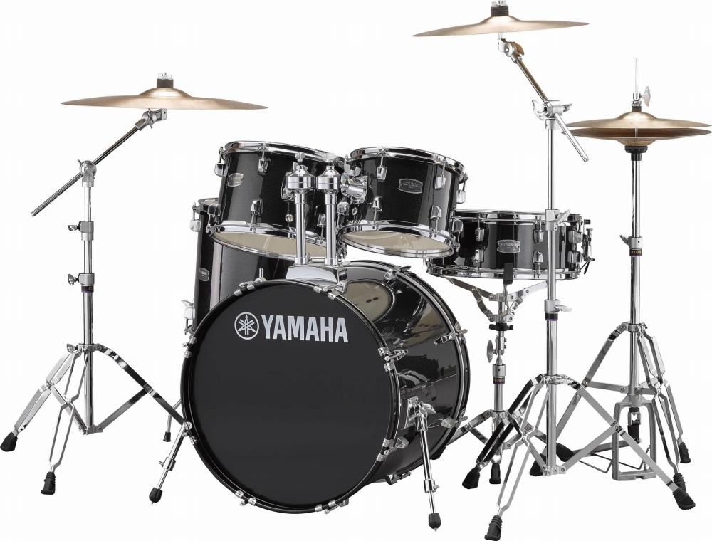YAMAHA ヤマハ ドラム RYDEEN ライディーン ブラックグリッター 初心者 入門用 におすすめ! RDP2F5STD スタンダードセット ドラムセット 初心者用 スタンド シンバル付属!