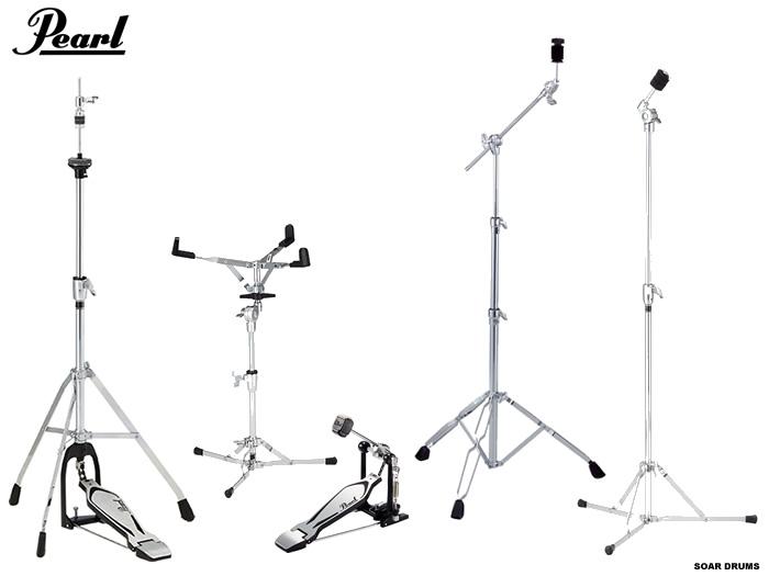 Pearl/ パール ドラムセット用スタンド・ハードウェアセット (キックペダル・シンバルスタンド・スネアスタンド・ハイハットスタンド)