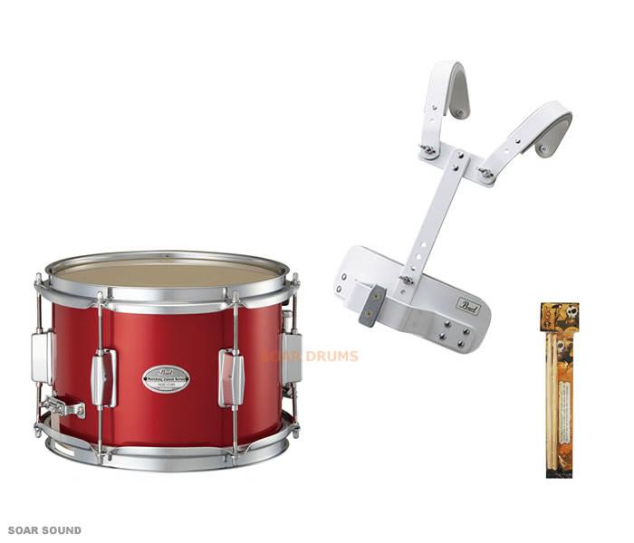 【幼児・幼稚園児用】 安心設計のキャリングホルダー付き!マーチングスネアドラム 小太鼓セット Pearl / パール MJC-210S 10