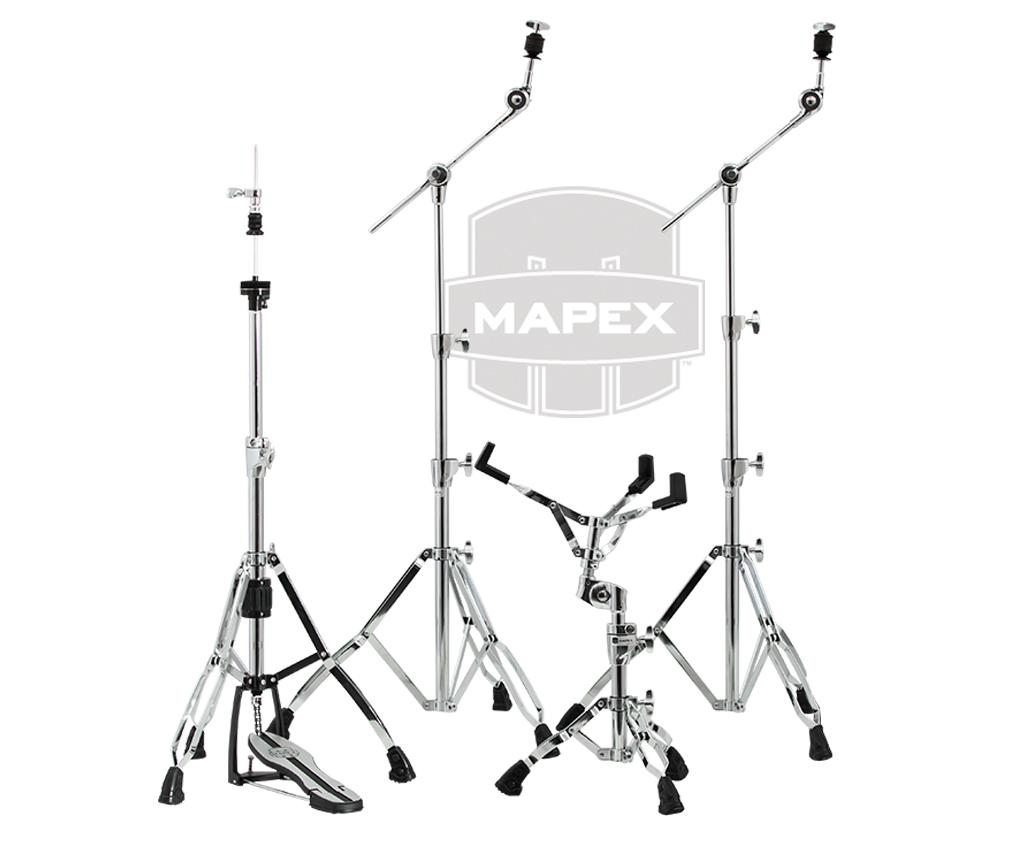ドラム ハードウェアセット MAPEX メイペックス MARS SERIES ハイハットスタント シンバルスタンドx2 スネアスタンド クロームカラー