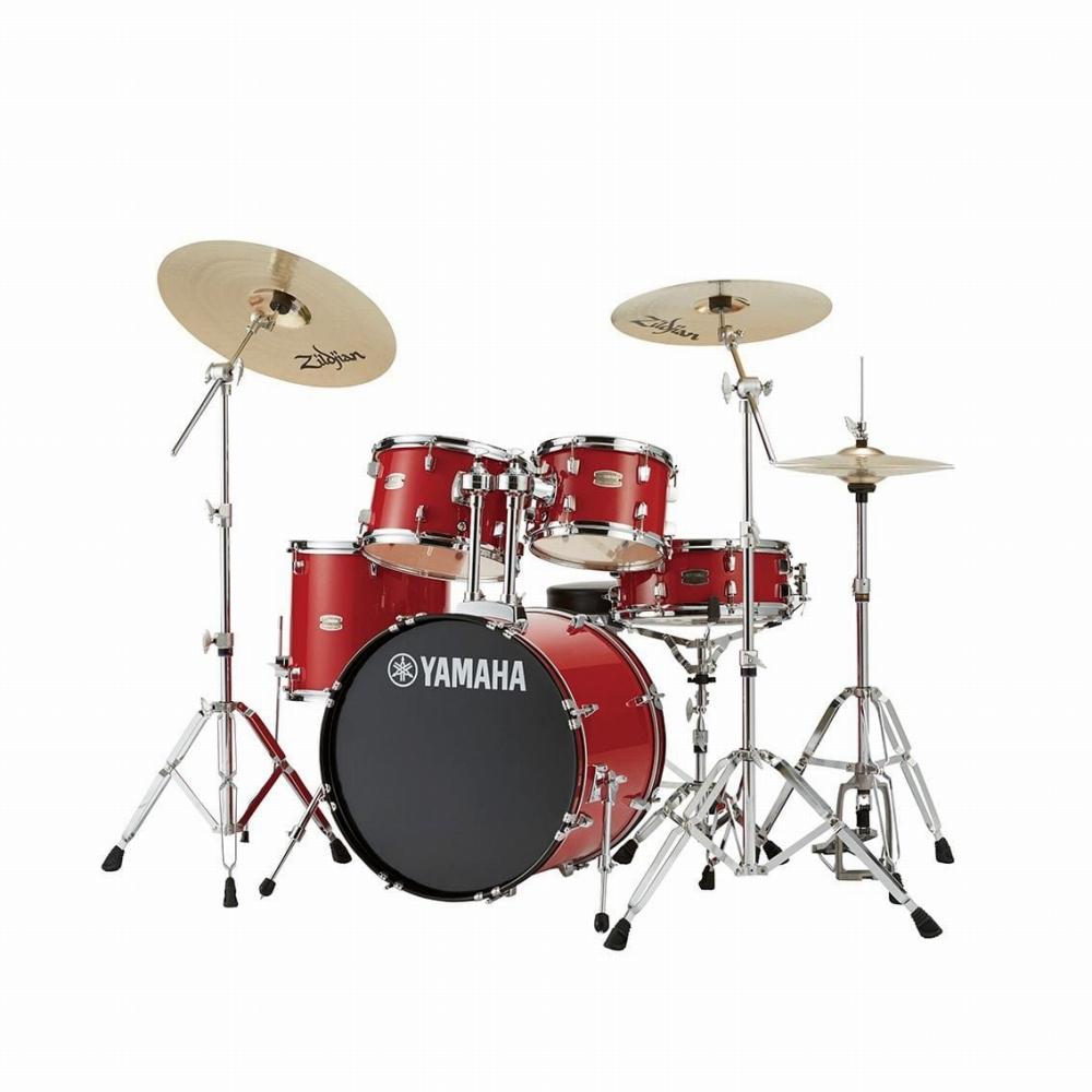 YAMAHA ヤマハ ドラム RYDEEN ライディーン ホットレッド 初心者 入門用 におすすめ! RDP2F5STD スタンダードセット ドラムセット 初心者用 スタンド シンバル付属!