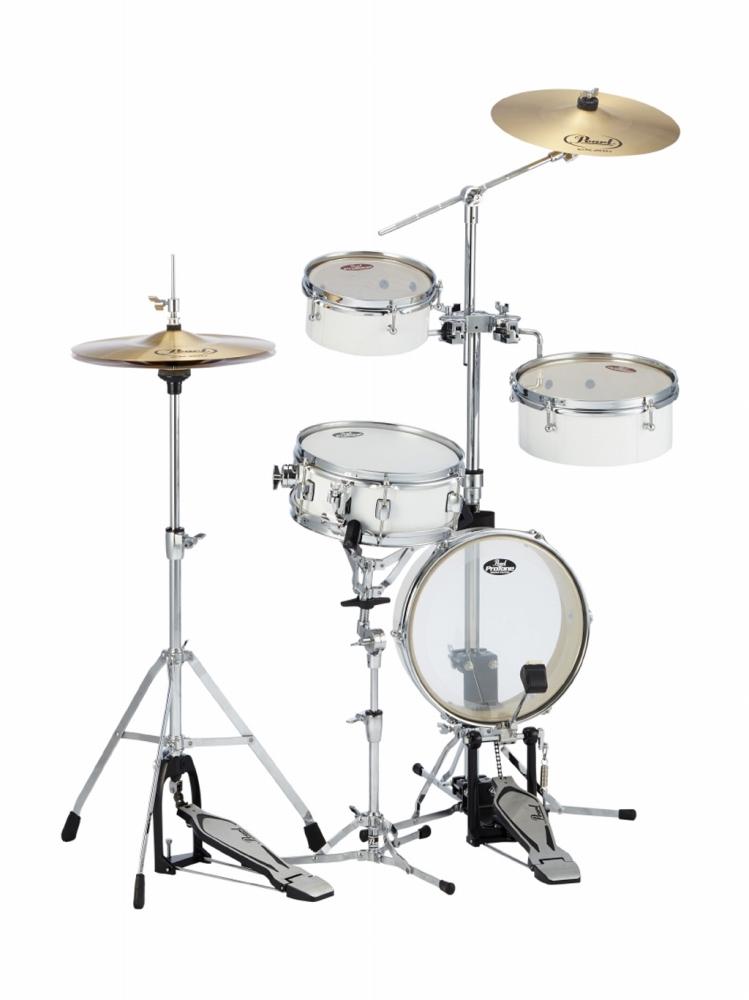 Pearl パール コンパクト ドラムセット リズムトラベラーライト RT-5124N Rhythm Traveler Light #33 ピュアホワイト ドラム 持ち運び 便利!野外やストリートに!
