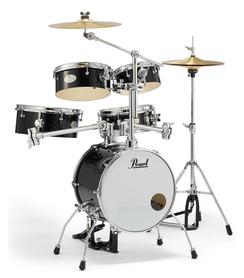 Pearl パール コンパクト ドラムセット リズムトラベラー Version 3S RT-645N/C Rhythm Traveler Light #31 ジェットブラック ドラム 持ち運び 便利!野外やストリートに!