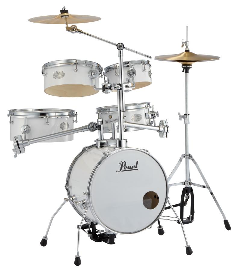 Pearl パール コンパクト ドラムセット リズムトラベラー Version 3S RT-645N/C Rhythm Traveler Light #33 ピュアホワイト ドラム 持ち運び 便利!野外やストリートに!