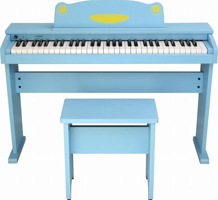 artesia アルテシア キッズ用 ピアノ 61鍵盤 FUN-1 BL ブルー オールインワン 61鍵盤 キッズ ピアノ キーボード 水色 子供用 幼児用