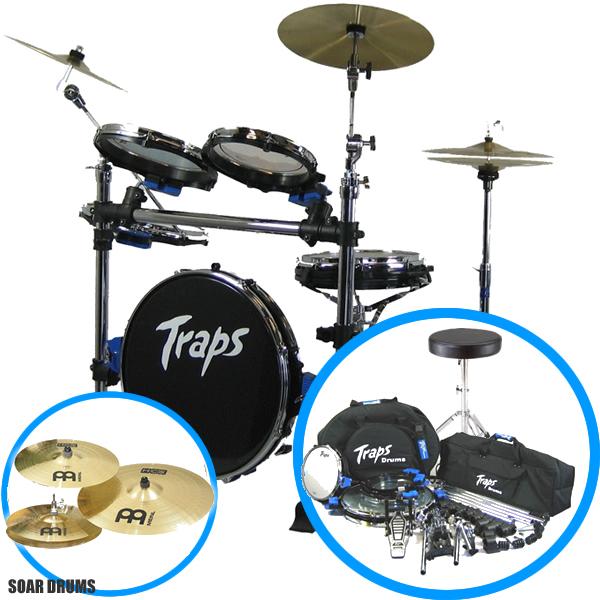 【送料無料!】【シンバル+専用ケース+ドラムイス付き!】ポータブルなドラムセット!TrapsDrums トラップスドラム A400NC