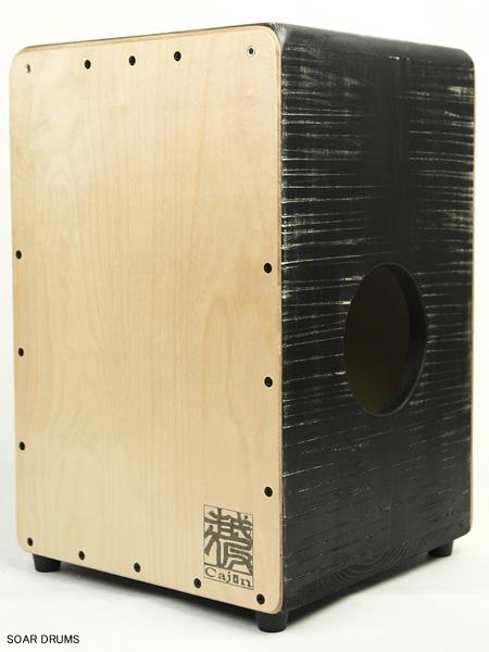【受注製作】当店イチオシ!越仮カホン スタンダード・ビンテージ・ブラック 004-ST-VBL-D / K's factory 檜使用・日本製