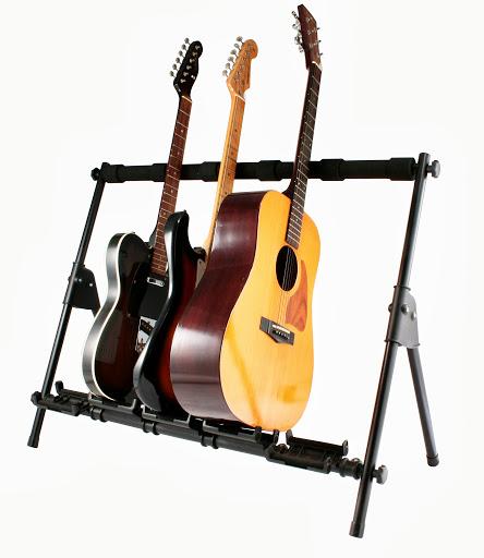高品質・丈夫なプロ仕様! ギタースタンド 5本用 Sound Port G550 Guitar Rack Stand エレキ ギター ベース アコギ アコースティックギター 対応 スタンド ラック サウンドポート 複数本 対応