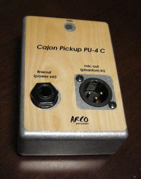 カホン用ピックアップマイク ARCO / アルコ PU-4C カホン用 マイク