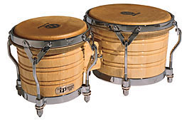 ボンゴ LP201A-3 LP Generation III Wood Bongos Chrome Hardware LP