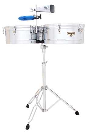 ティンバレス M257  LP Matador Timbales 14″ & 15″ Shells, Bright Chrome LP