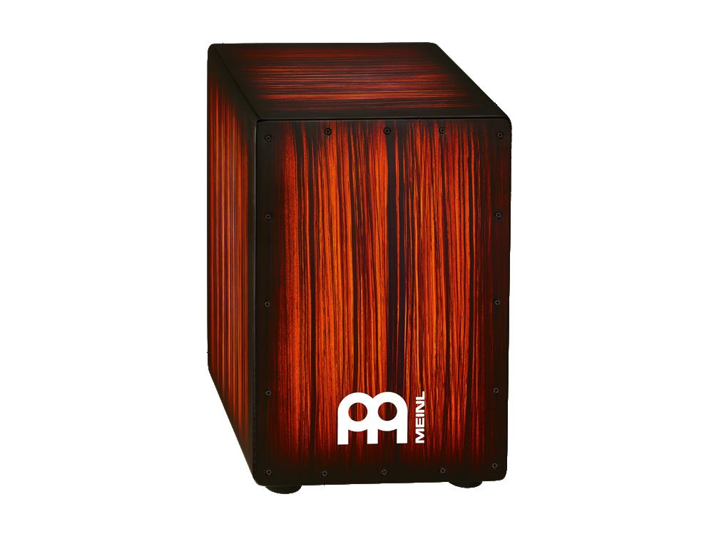 MEINL マイネル カホン Tiger Striped, Rojo / Headliner Designer Series String Cajons HCAJ2RTS