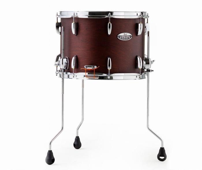Pearl パール Modern Utility Snare Drum スネアドラム スナッピーオフで、 フロアタム にも MUS1410FM