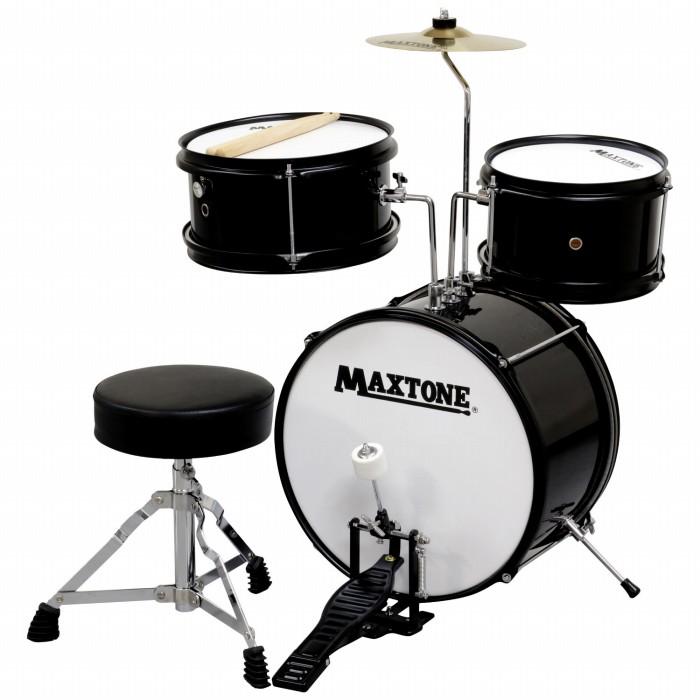 MAXTONE マックストーン キッズ用 ドラムセット ブラック BLK 黒色 こどもサイズ ジュニアドラムセット MX-60 子供用