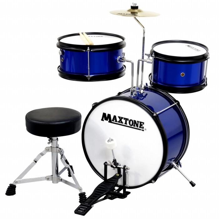 MAXTONE マックストーン キッズ用 ドラムセット ブルー BLUE 青色 こどもサイズ ジュニアドラムセット MX-60 子供用