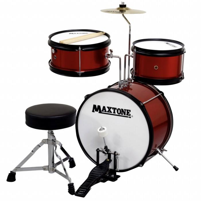 MAXTONE マックストーン キッズ用 ドラムセット レッド RED 赤色 こどもサイズ ジュニアドラムセット MX-60 子供用