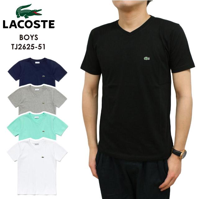 23afd2ef7f5 Lacoste Boys LACOSTE BOYS short sleeves T-shirt V neck SHORT SLEEVE V NECK  TEE crocodile cotton men gap Dis unisex