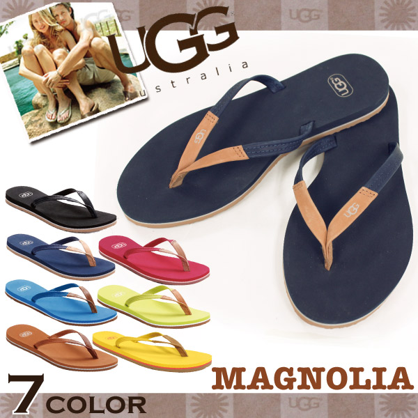 Magnolia Beach Sandals logo, Magnolia colorful leather thong sandals, Ugg Australia UGG Australia suede flip flops thong ladies (1007563)