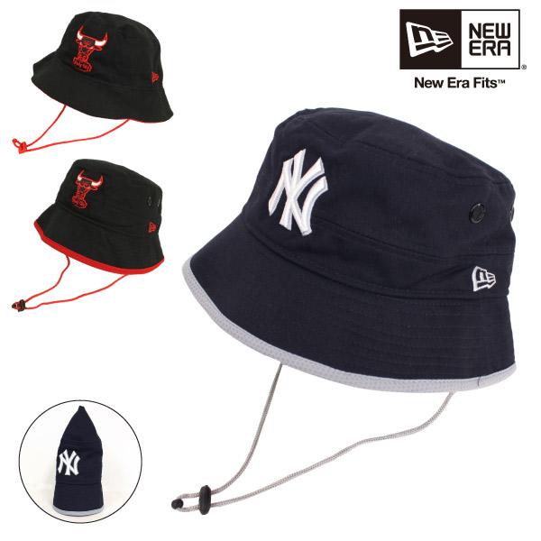 e1d6b06eb7e New era NEW ERA new era Cap basic action cotton logo bucket Hat NY Yankees  Chicago Bulls Hat Cap Safari hat with strap