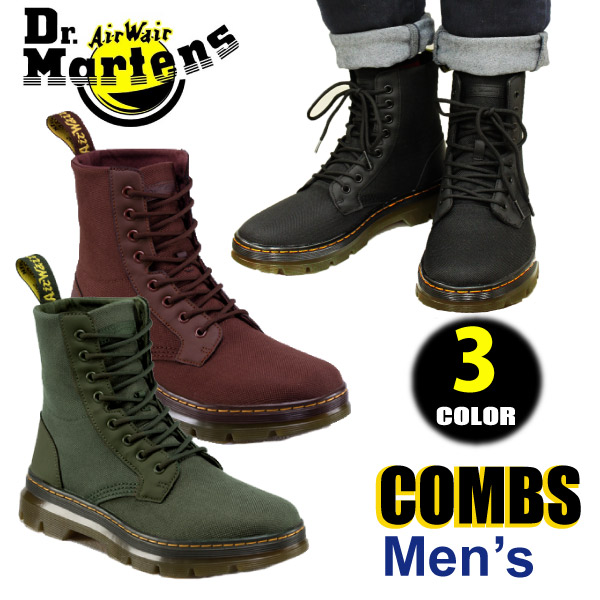 Dr. Martens COMBS - Lace-up boots - black