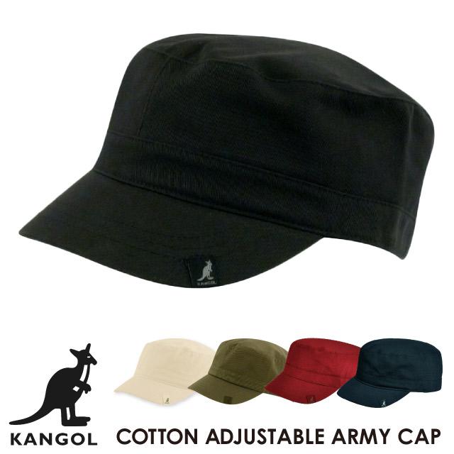 カンゴール KANGOL コットン アジャスタブル アーミー キャップ COTTON ADJUSTABLE ARMY CAP ハット 帽子 ツバ  ブランドロゴ カンガルー bcc8d314088