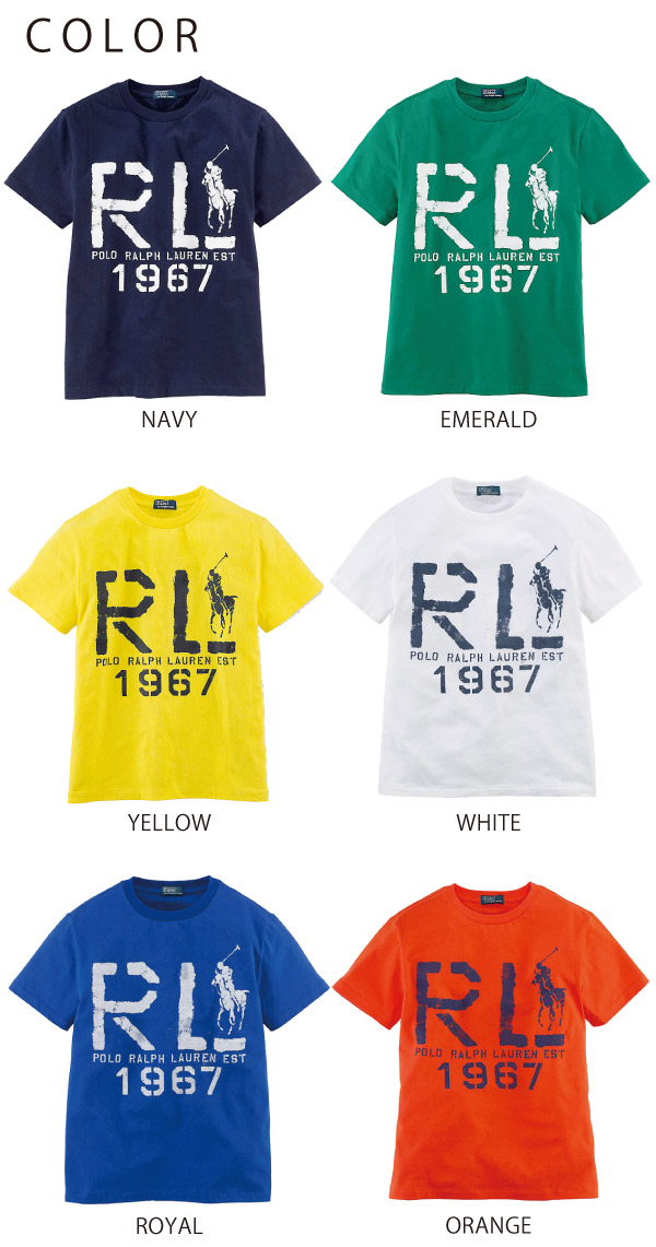 ??? % OFF ?? ??????? ???? Polo Ralph Lauren BOYS Short Sleeved RL Tee ???