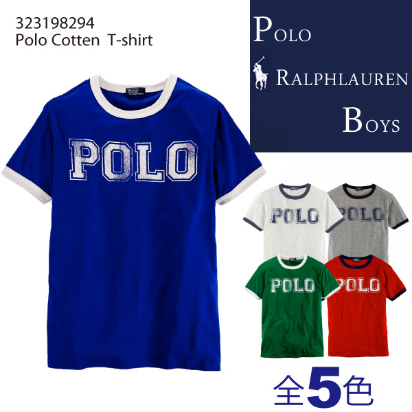 Polo Ralph Lauren boys Short Sleeved Polo Tee, Polo Ralph Lauren BOYS big  pony screen prints short sleeve T shirt mens (323174756)